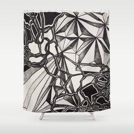 Neurogeometry Shower Curtain