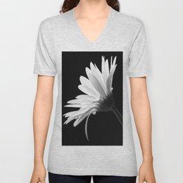 Flower BW Unisex V-Neck