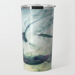 Flying Green Sea Turtle Travel Mug