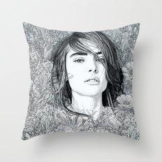 White Moon Garden Throw Pillow