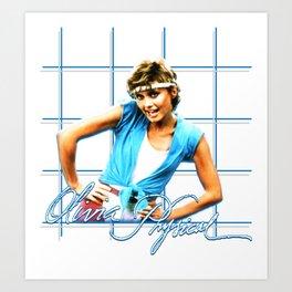 Olivia Newton-John - Physical 1981 Art Print