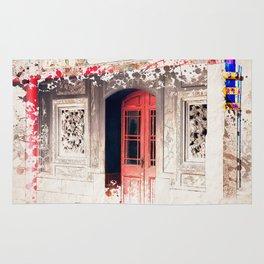 Door at Longshan Temple Rug