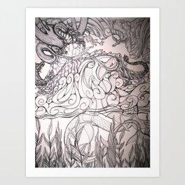 The Dragon Element Art Print