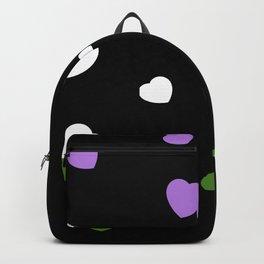 Chaotic Hearts, Pride Flag Series: Genderqueer Backpack