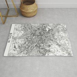 Berlin White Map Rug