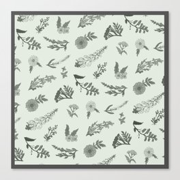 Wildflowers (Mint) Canvas Print