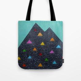 Triangle Mountain Tote Bag