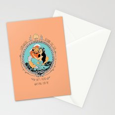 Mermaid and Fisherman Stationery Cards
