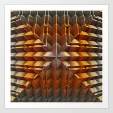 Golden Pyramid Art Print