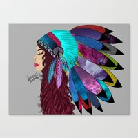 native american Canvas Prints featuring native american  by Lunah