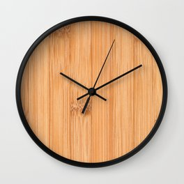 Cool elegant light brown bamboo wood print Wall Clock