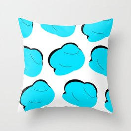 Blue Clouds on the Shadows Throw Pillow