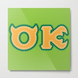 Monster University Fraternity : Oozma Kappa Metal Print
