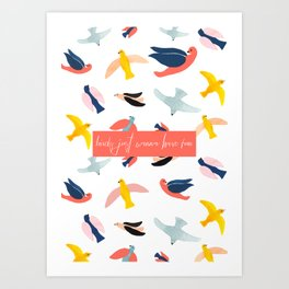 Fun bird Art Print