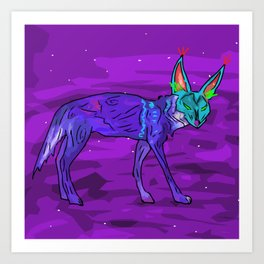 Coyote in the Night Art Print