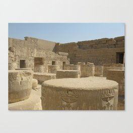 Temple of Medinet Habu, no. 2 Canvas Print