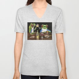 """""""Fine Wine"""" - Frogs After Five collection Unisex V-Neck"""