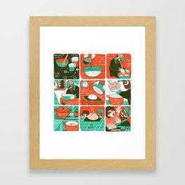 No-knead Bread Framed Art Print