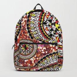 Glitter Gryffindor Patterned Mandala Textile Backpack