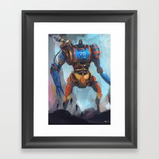 1 vs 5 Framed Art Print