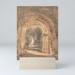 EAST BERGHOLT CHURCH, LOOKING OUT THE SOUTH ARCHWAY OF THE RUINED TOWER JOHN CONSTABLE Mini Art Print