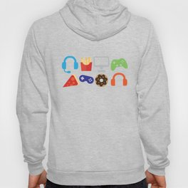 Video Game Party Snack Pattern Hoody