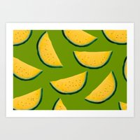 Yellow Watermelon Art Print
