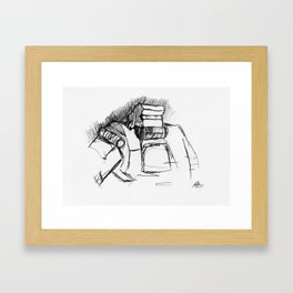 Warbot Sketch #009 Framed Art Print