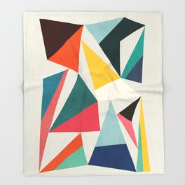 Collection of pointy summit Throw Blanket