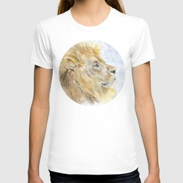 African Lion Watercolor T-shirt