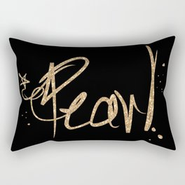 Fancy gold Sparkle Font with STAR Rectangular Pillow