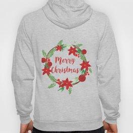 Lovely Merry Christmas Wreath Hoody