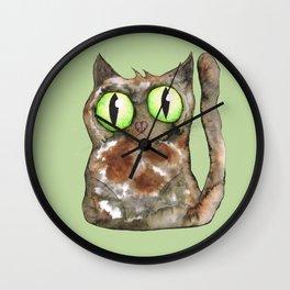 Tortoiseshell cat Wall Clock