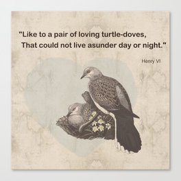 Like to a pair of loving turtle-doves Canvas Print