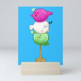 Dango Seal Pups Mini Art Print