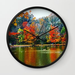 Autumn of Our Contentment Wall Clock
