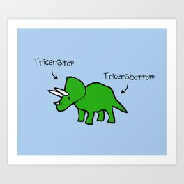 Triceratops Tricerabottom Art Print