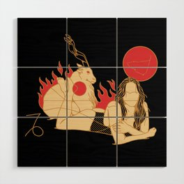 CAPRICORN Wood Wall Art