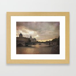 The French are so Dramatic Framed Art Print
