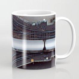 Chicago El Train Going Downtown Coffee Mug