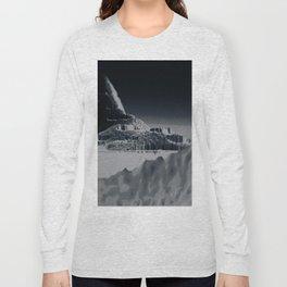 Mountain landscape illustration painting Long Sleeve T-shirt