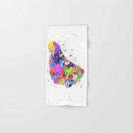 Barbados Map Hand & Bath Towel