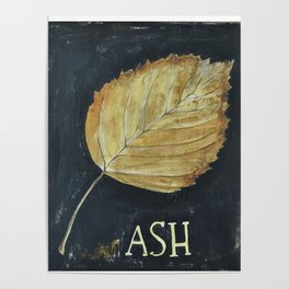 Hand-Painted Fall Ash Leaf Poster