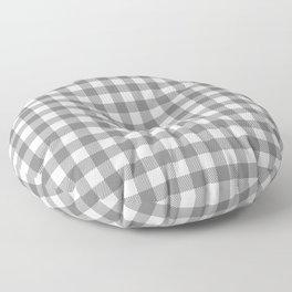 Plaid (gray/white) Floor Pillow