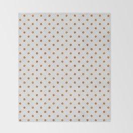 Elegant white modern faux gold glitter polka dots Throw Blanket
