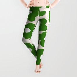 Simple Green Flowers 09007 Leggings
