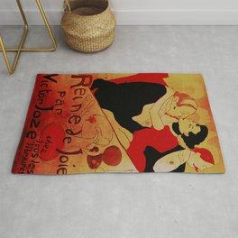 Vintage poster - Reine de Joie par Victor Joze Rug