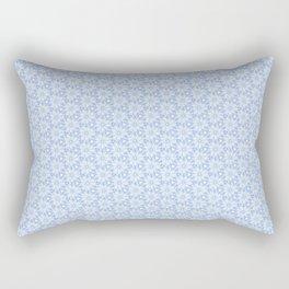 Blue Abstract Flower Pattern Rectangular Pillow