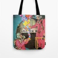 hologram Tote Bags featuring Hologram by Ben Giles