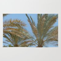 palm trees Area & Throw Rugs featuring Palm Trees by MehrFarbeimLeben